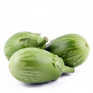 Ei aubergines groen