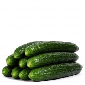 Komkommers naakt